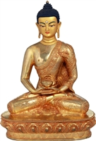 The Buddha 24 Carat Gilded Copper 8.7 Inches Ships Free World Wide