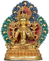 White Tara 24 Carat Gilded Statue 15 Inches Ships Free World Wide