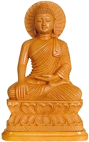 The Buddha Wood Statue 14 inches Ships Free World Wide