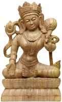 White Tara Hand Carved Wood From Bod Gaya 23.5 inches - Ships Free World Wide