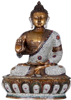 Buddha Statue 46 Inches Gem Inlayed Ships Free World Wide