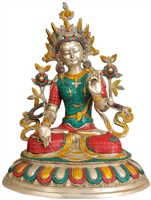 White Tara Statue 18.5  Inches SHIPS FREE WORLD WIDE