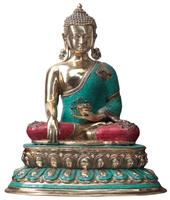 The Buddha with Gem Inlays  - 20 Inch SHIPS FREE WORLDWIDE