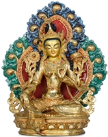 18 Inch Amitabha 24 Carat Gilded Statue - Ships Free World Wide