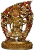 Six Armed Mahakala 24 Carat Gilded 13.5 Inches- Ships Free World Wide