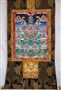 Praise to the 21 Tara's Brocaded Thangka 50 inches