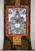 5 Dhyani Buddhas  Brocaded Thangka 50 inches