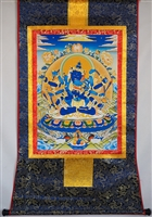 Guhyasamaja Brocaded Thangka 50 inches
