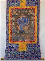 Hevajra Brocaded Thangka 50 inches