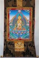 Ksitigharaba Brocaded Thangka 50 inches