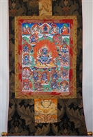Mahakala Brocaded Thangka 50 inches