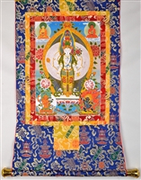1000 Armed Chenrezig Brocaded Thangka 32 inches