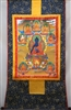 Medicine BuddhaBrocaded Thangka 48 inches