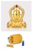 Gold Plated Car Dashboard Prayer Wheel