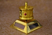 Gold Plated Solar Powered Prayer Wheel