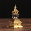 Gold Plated Stupa 7 inches