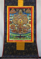 Large Kagyu Refuge Tree Thangka 48 Inches