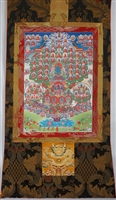 Extra Large Kagyu Refuge Tree Thangka 60 Inches