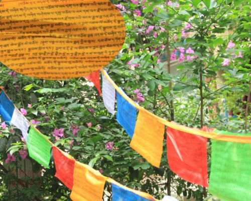 16 Foot Poly Blend Medicine Buddha Mantra Prayer Flag