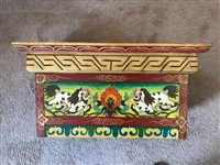 Hand Painted Snow Lion Puja Table