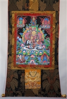 Extra Large Namtose & The Five Dzambhala's Thangka