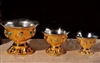 Heavy Gold Plated Lined Offering Bowls 3 Sizes to Choose From