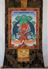 Large Red Dzambhala Thangka 50 inches