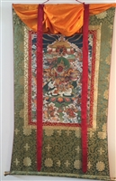 Rare Red Namtose ( Vaishravana ) Extra Large Thangka 55 inches
