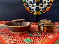 Antique Chutor Water Offering Set for Dzambhala Wealth Deities. Text For the Ritual Included