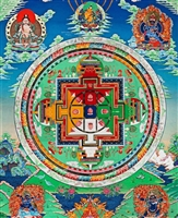 Mandala of  Yamantaka Thangka 32 Inches