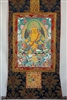 Large Yellow Dzambhala Thangka 50 inches