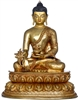 Medicine Buddha 24 Carat Glided Copper 12 Inches