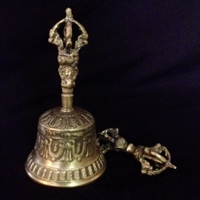 5 Pointed Dorje and Brass Bell