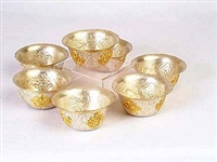Gold and Silver Plated Offering Bowls