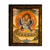 "Yamantaka Hand Painted Brocade Thangka - Image 18"" x 24"""