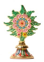 Gold Plated Peaceful Flower Torma