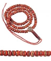 Hand Carved Yak Bone  Studded  Mala - 108 Beads