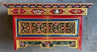 Hand Carved & Painted Rinpoche Puja Table