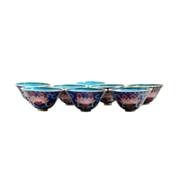 Blue Cloisonne Offering Bowls
