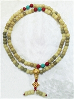 Bodhi Root Mala 108 Beads 8mm