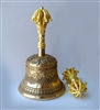 24 Carat Gilded Bell & Dorje Set with Auspicious Symbols and Garuda