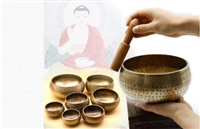 Hand Crafted Duo Metal Singing Bowl