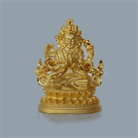 Chenrezig Gold Plated Statue - 2 Inch