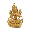 White Tara Gold Plated Statue - 2.3 Inch