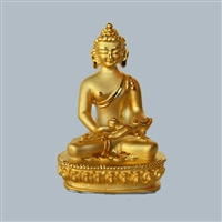 Amithaba Gold Plated Statue - 2 Inch