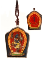 Black Dakini with Mantra Pendant
