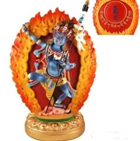 Black Dakini Throlma Dagamo 12 Inch Resin Statue