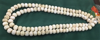 Large Antique Conch Shell Mala 54 inches 18mm - 108 Beads