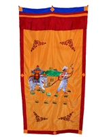 Hand Embroidered Precious Elephant Door Curtain