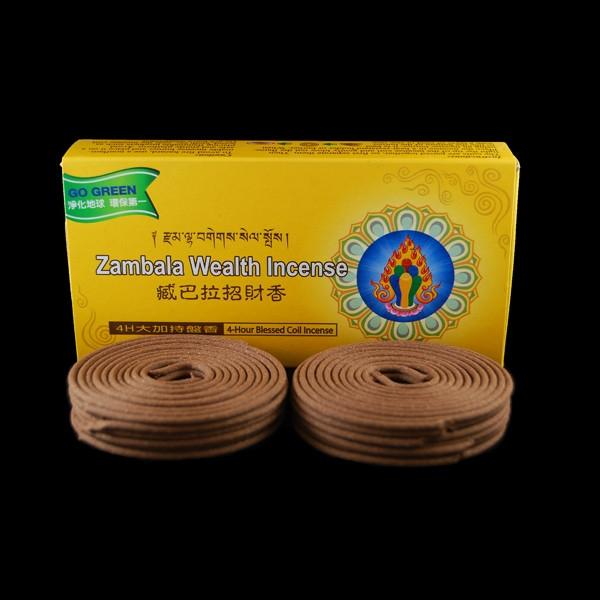 Organic Blessed Dzambhala 24 - 4 Hours Coils Incense
